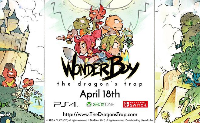 Wonder Boy: The Dragon's Trap disponibile su PS4, Xbox One e Switch