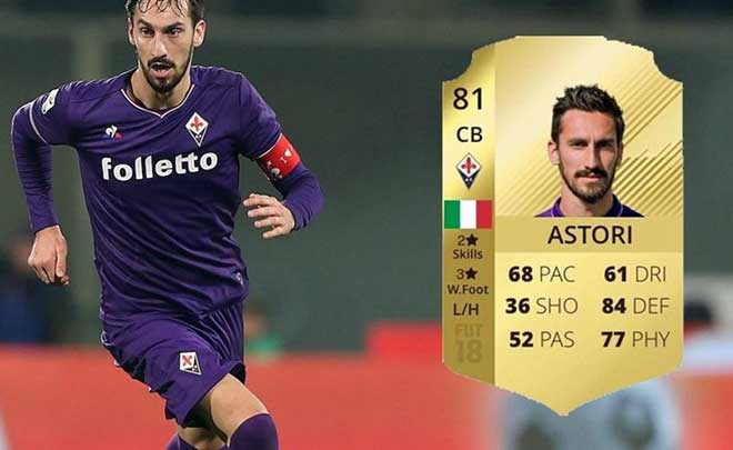 FIFA 18: il capitano della Fiorentina Astori rimarrà in game