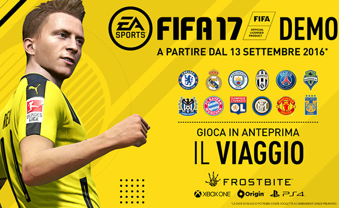 FIFA 17 demo disponibile al download
